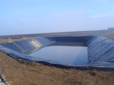 Гноєсховища з HDPE-мембрани (лагуна)